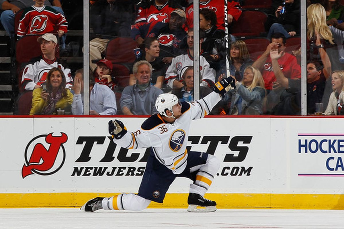 Patrick Kaleta poses for his new statue of himself after scoring last night.