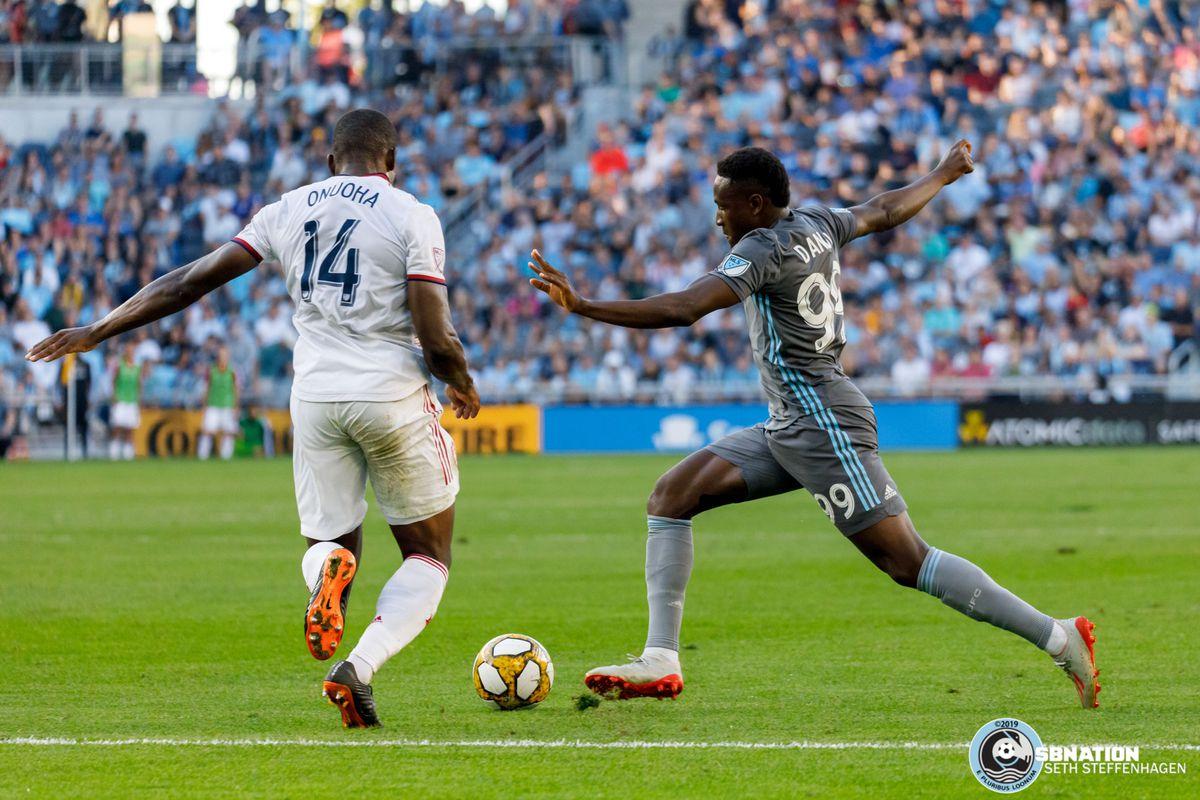 September 15, 2019 - Saint Paul, Minnesota, United States - Minnesota United forward Abu Danladi (99) dribbles the ball during the match against Real Salt Lake at Allianz Field.