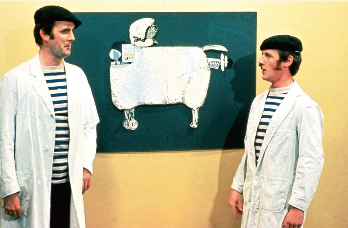 john cleese and michael palin in monty python's flying circus