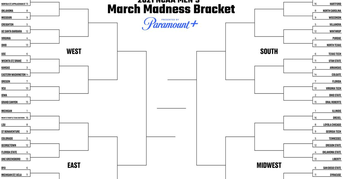 Printable bracket 2021: Fill out your men's March Madness ...