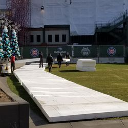 Another view of the ice rink setup