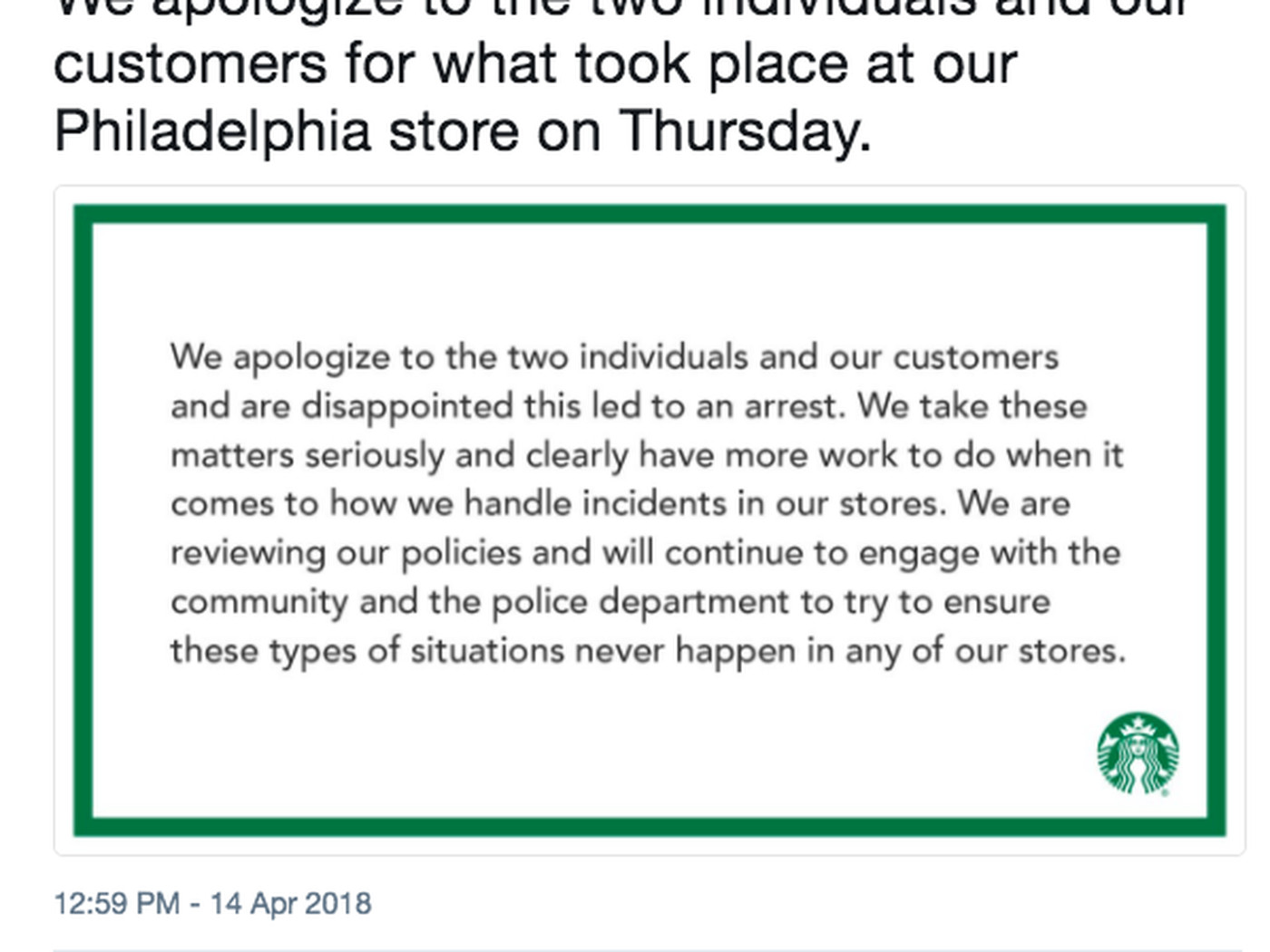 Starbucks had two black men arrested for doing absolutely nothing