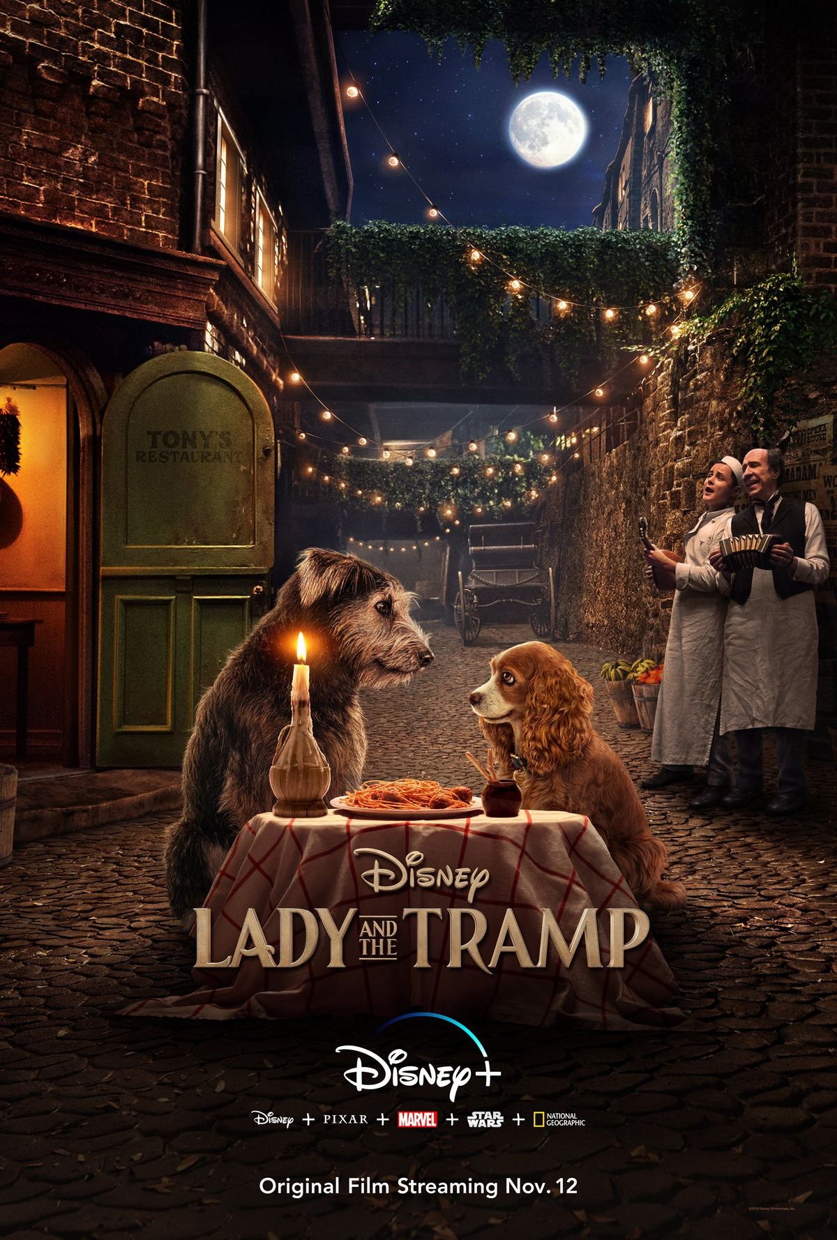 Lady and the Tramp live-action poster recreates dinner scene
