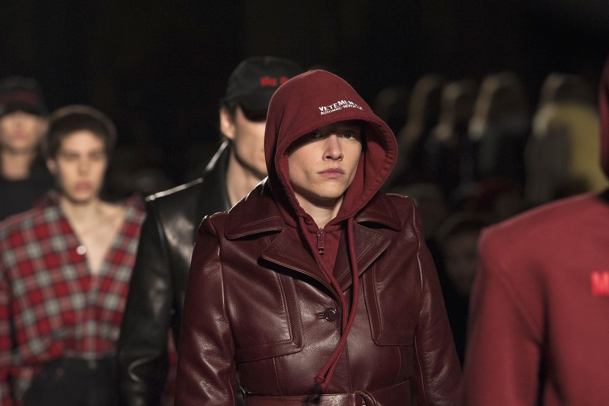 Vetements's fall 2016 runway show. Photo: Kay-Paris Fernandes/Getty Images