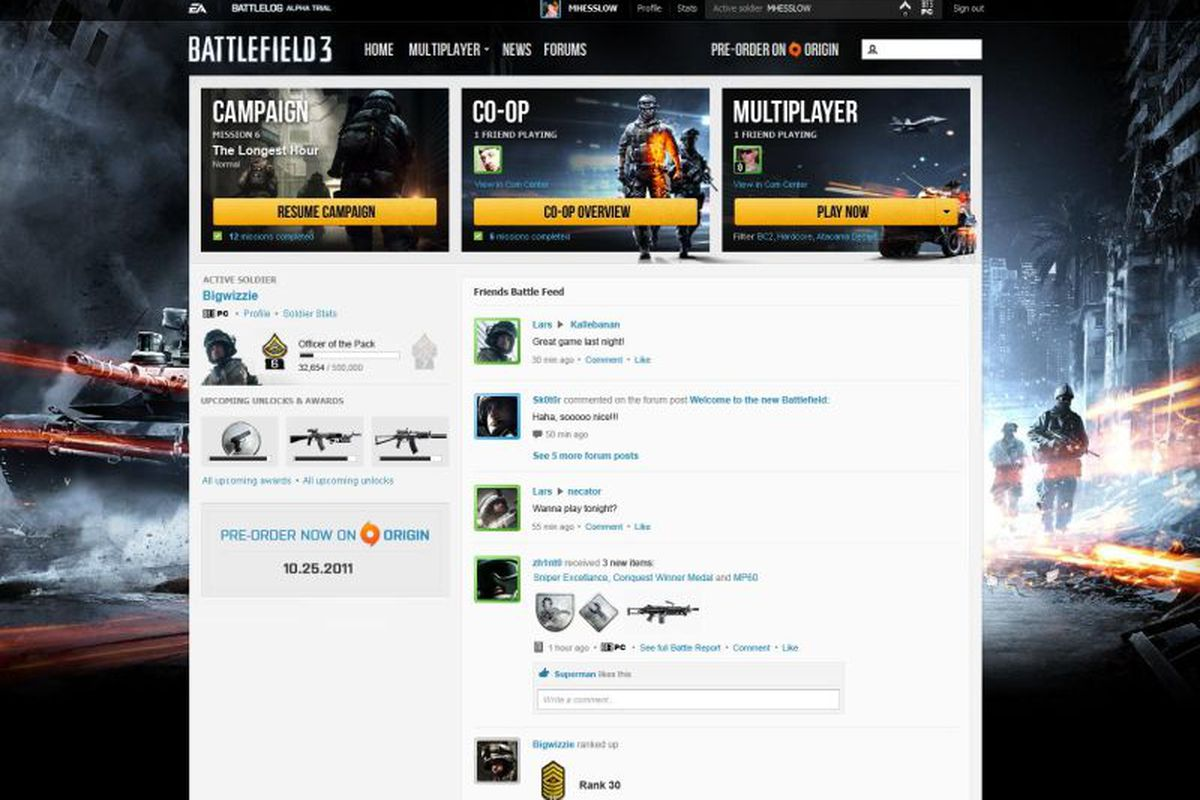 battlefield 3 sign up