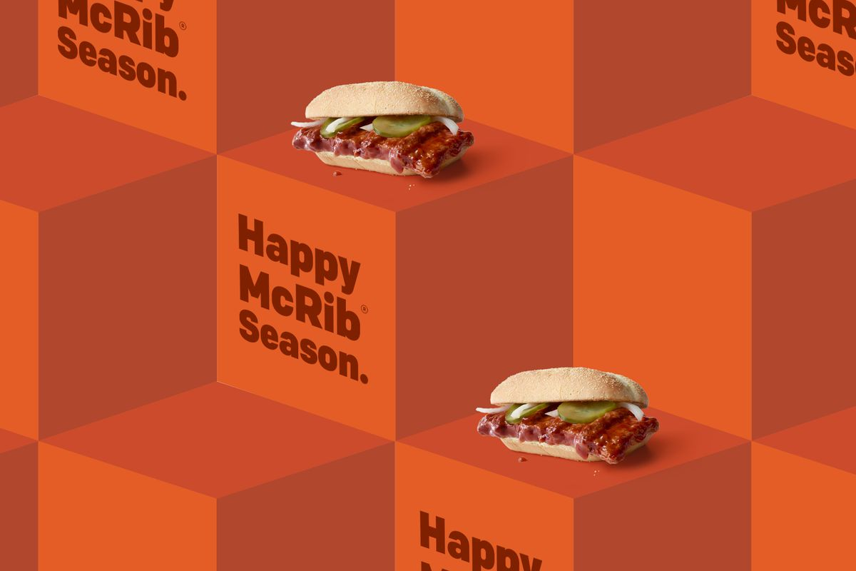 show them how much you care with mcrib wrapping paper eater