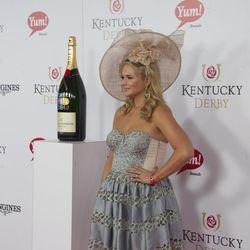 Grammy Award-winning country music singer Miranda Lambert was accompanied by a big bottle of champagne.
