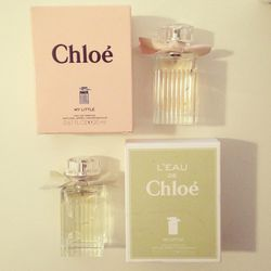 """I found these <a href=""""http://www.chloe.com/#/e-shopping/en""""><b>Chloé</b></a>scents in my spring stash from last season. I love finding beauty presents. Especially when I hide them from myself!"""
