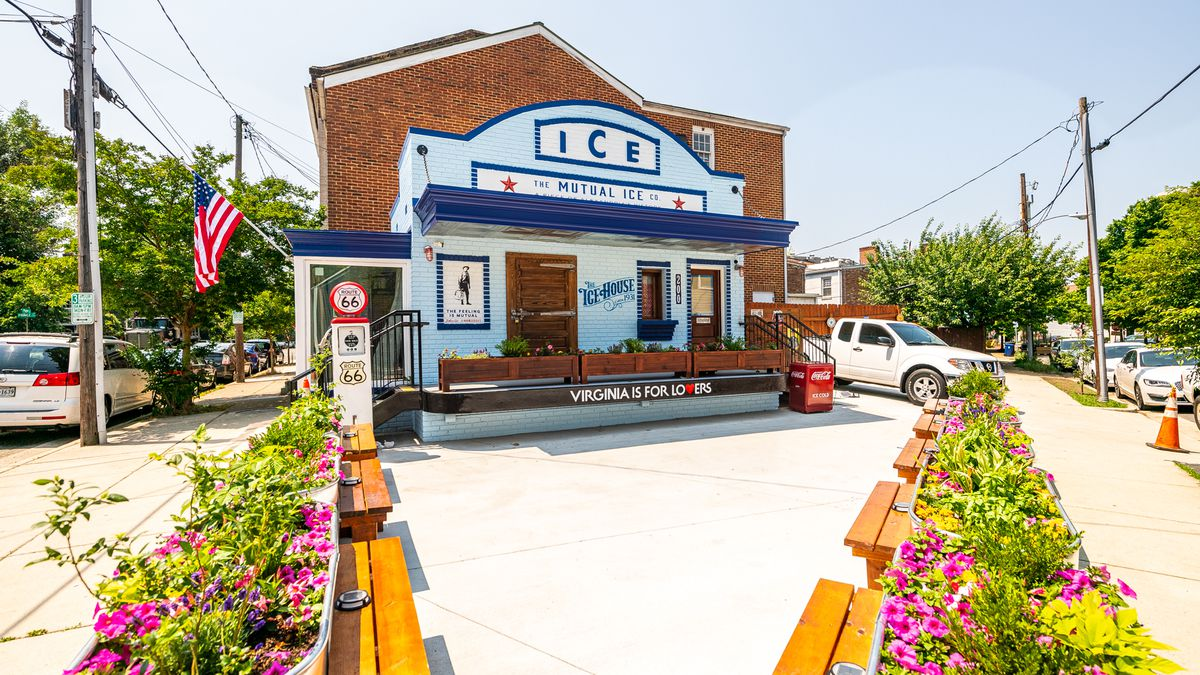 Brandon Byrd's refurbished ice house was built in 1931.