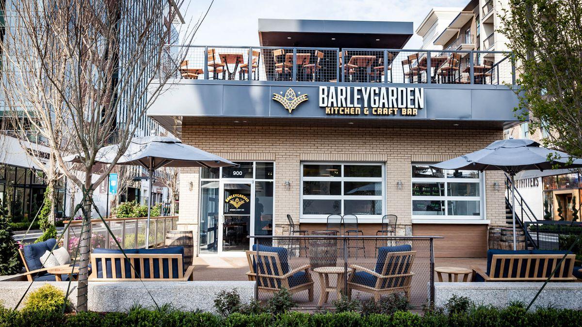 Exterior shot of Barleygarden Kitchen & Craft Bar.