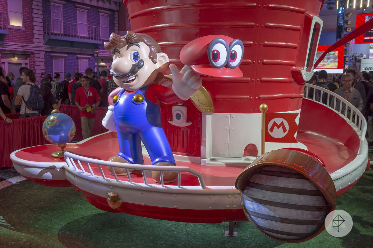 Nintendo S E3 Booth Put Fans In Super Mario Odyssey S New Donk
