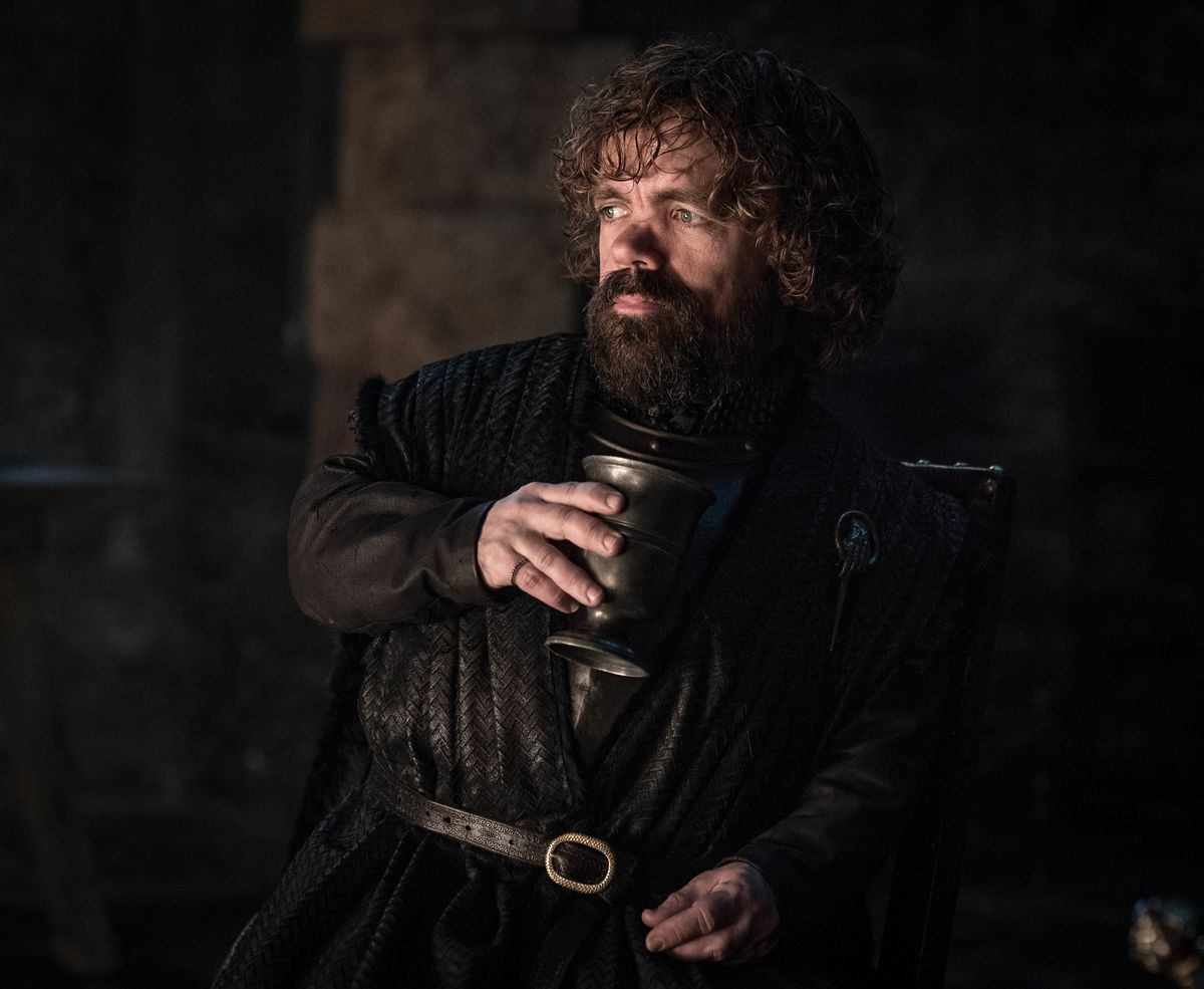 Game of Thrones season 8 episode 2 - Tyrion drinking wine