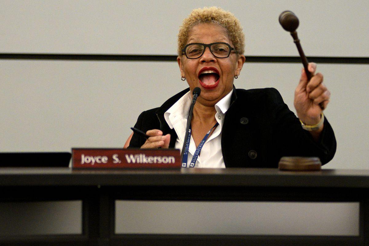 Joyce Wilkerson holding gavel