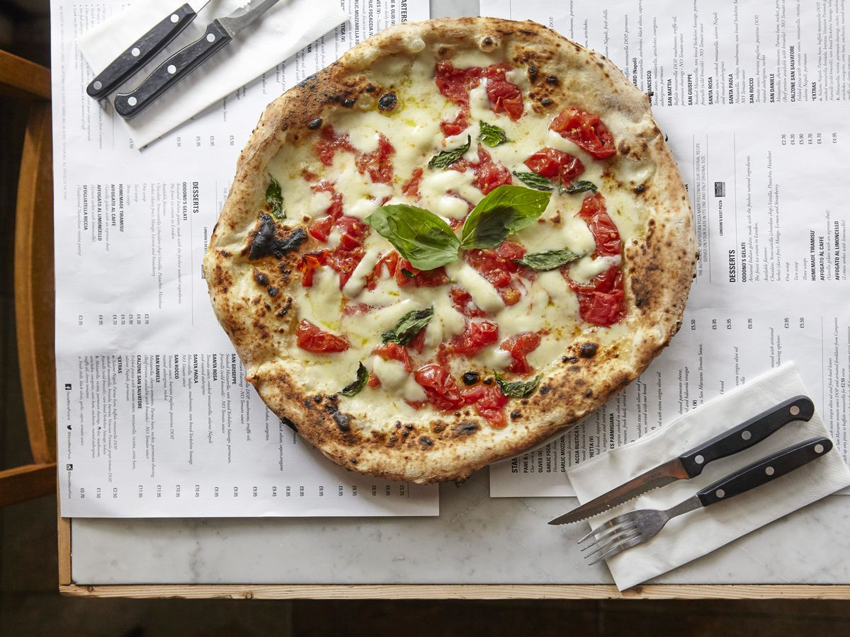 Santa Maria Pizzeria has sites in Ealing, Chelsea, and Fitzrovia. The brand serves some of the finest Neapolitan pizza in the city