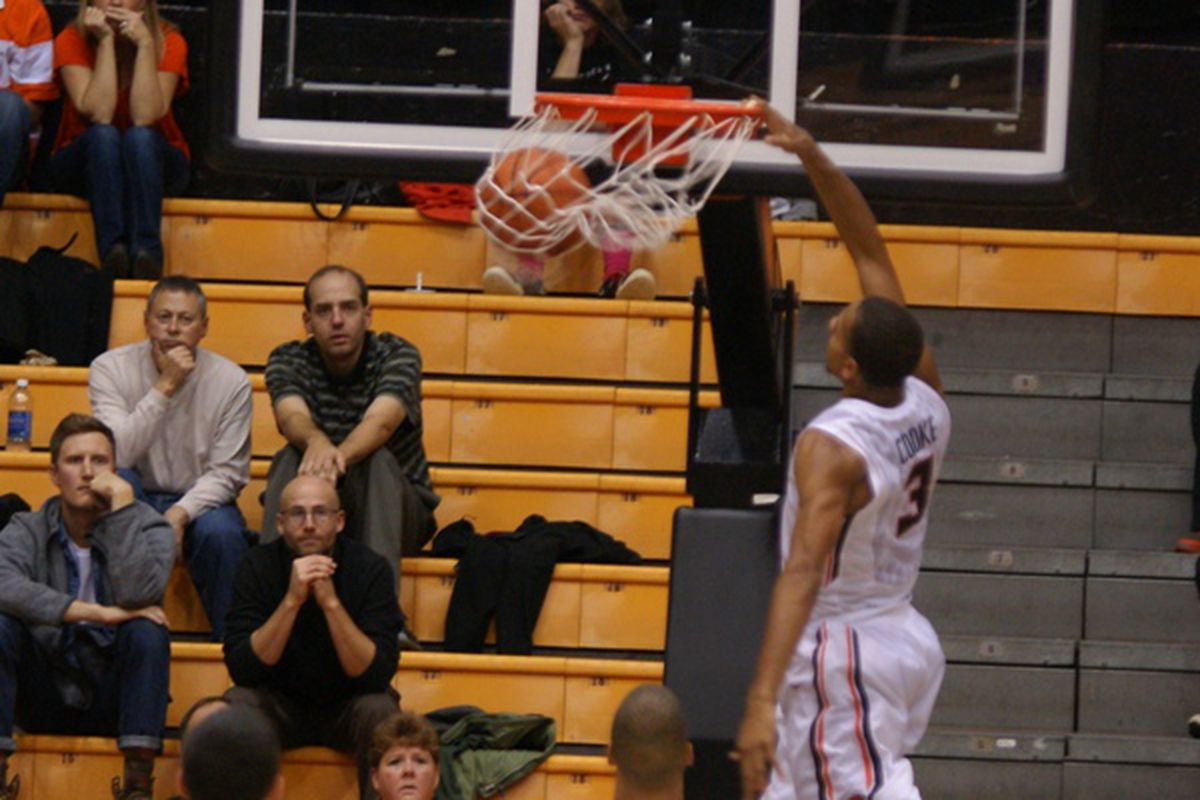 Hallice Cooke helped the Beavers pull away with several critical steals.