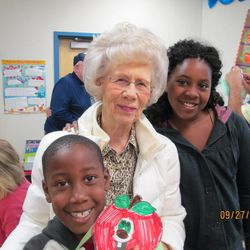 Rosalin Anderson with her grandchildren, Shawn, 8, and Olivia, 11.