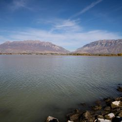 A view of the water from Utah Lake State Park in Provo on Thursday, Oct. 20, 2016.