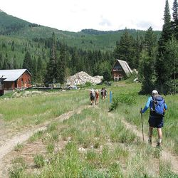 25. Hikers complete the loop and head for the parking lot at Solitude.