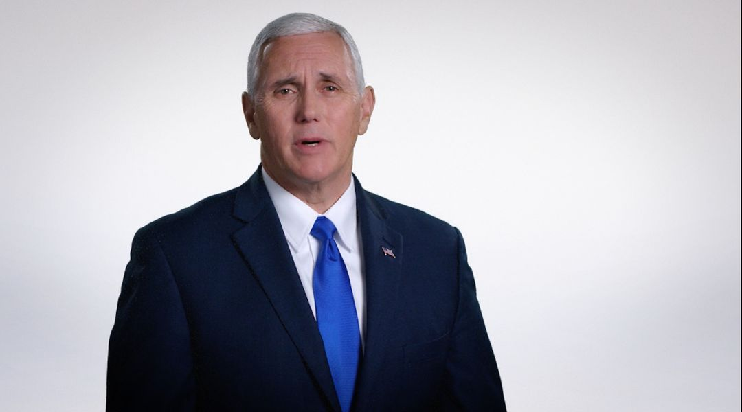 Mike Pence in his November 6 video, designed to pitch the Trump/Pence ticket to congregants in church.