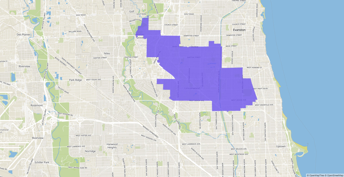 Illinois House 16th District map.
