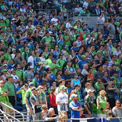 This man does Colorado proud in a deep green crowd at CenturyLink Field in Seattle (39,196).