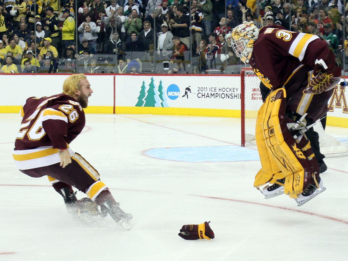 NCAA Men's Frozen Four - Michigan Wolverines v Minnesota Duluth Bulldogs