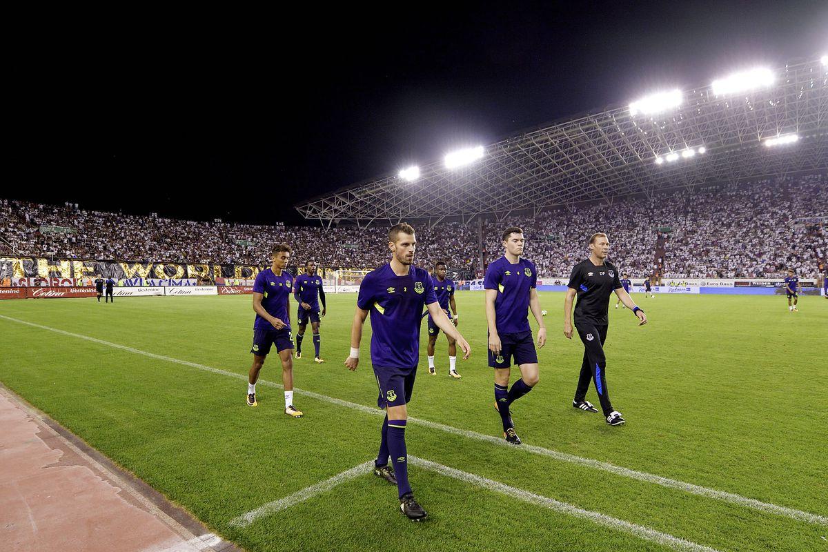 Hajduk Split v Everton - UEFA Europa League Qualifying Play-Offs Round: Second Leg