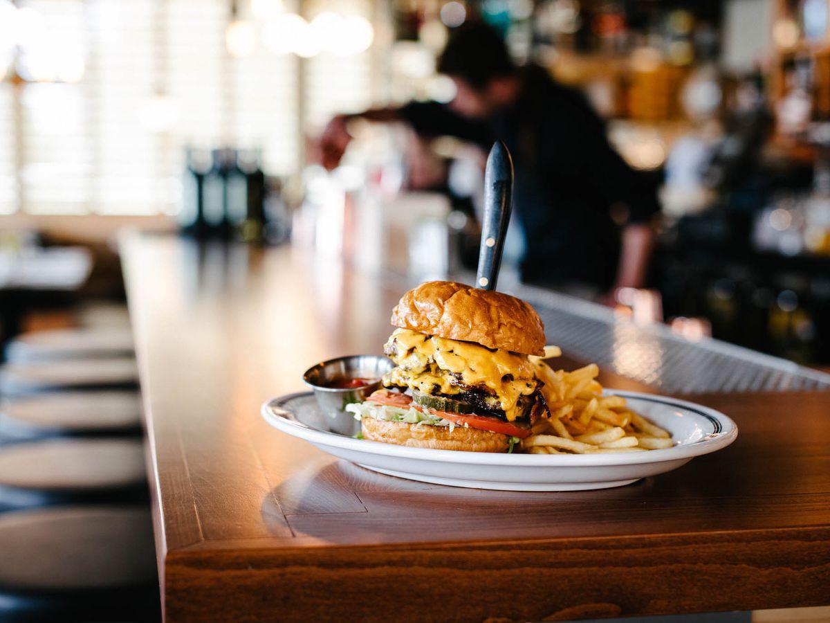 The Big Boy Bacon Burger at Officer's Club