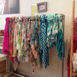 Silk and cotton scarves start at $54