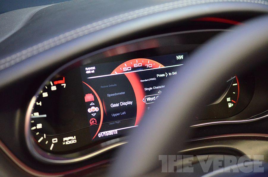 Dodge Dart Dashboard >> The 2013 Dodge Dart S New Digital Dashboard Hands On Photos The
