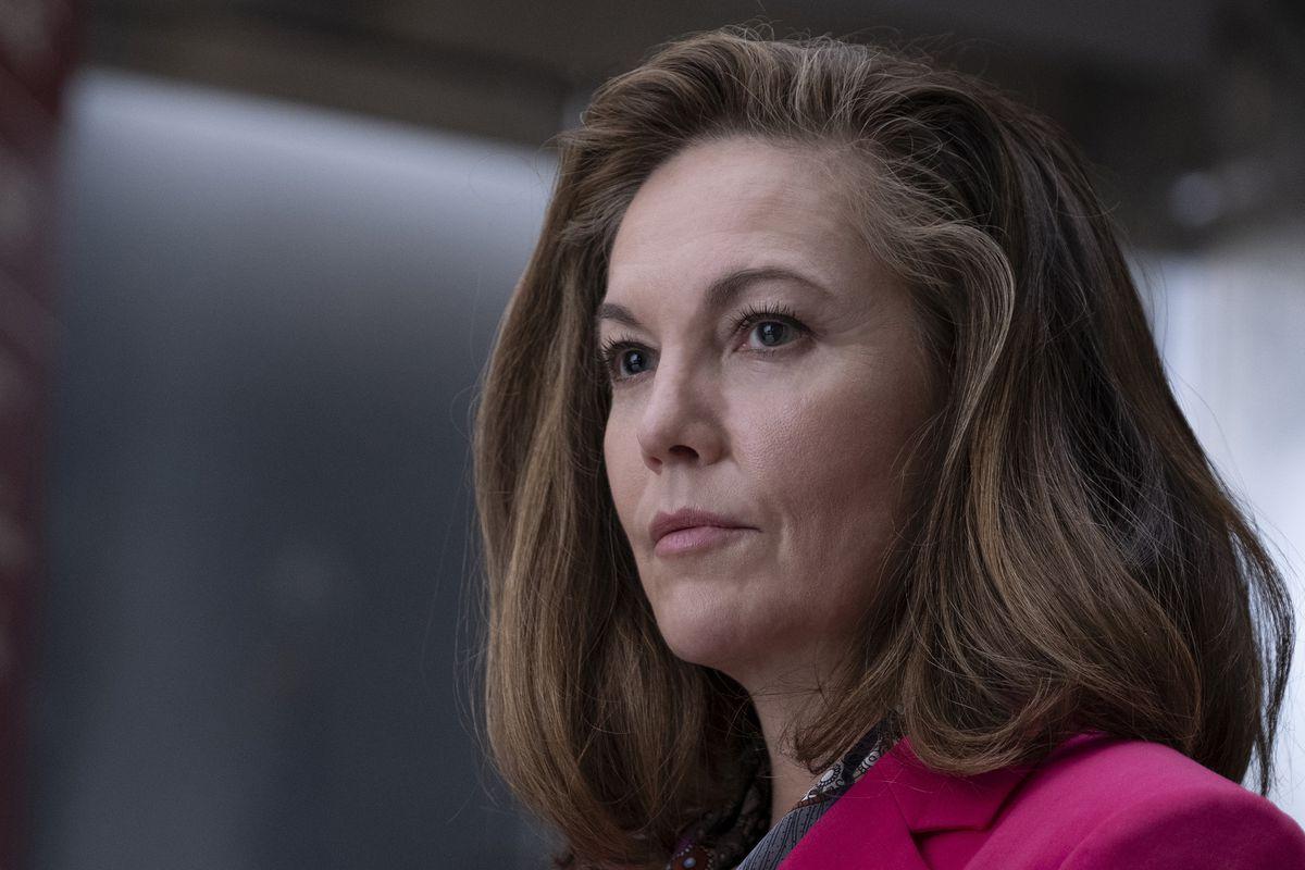 Diane Lane in closeup as President Brown in Y: The Last Man