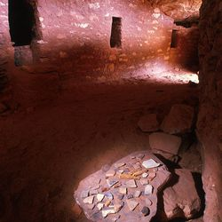 Moon House ruin on Cedar Mesa still contains artifacts left behind by Anasazi farmers over 700 years ago. photo by Ravell Call