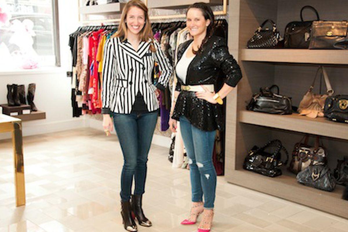 Lindsay Segal and Brielle Buchberg inside Luxury Garage Sale