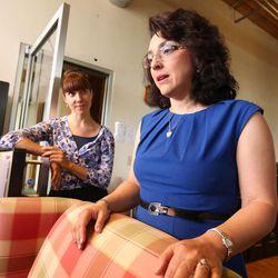Director of Development Kseniya Kniazeva and Executive Director Adina Zahradnikova talk Monday, June 23, 2014, about their work at the Disability Law Center in Salt Lake City.