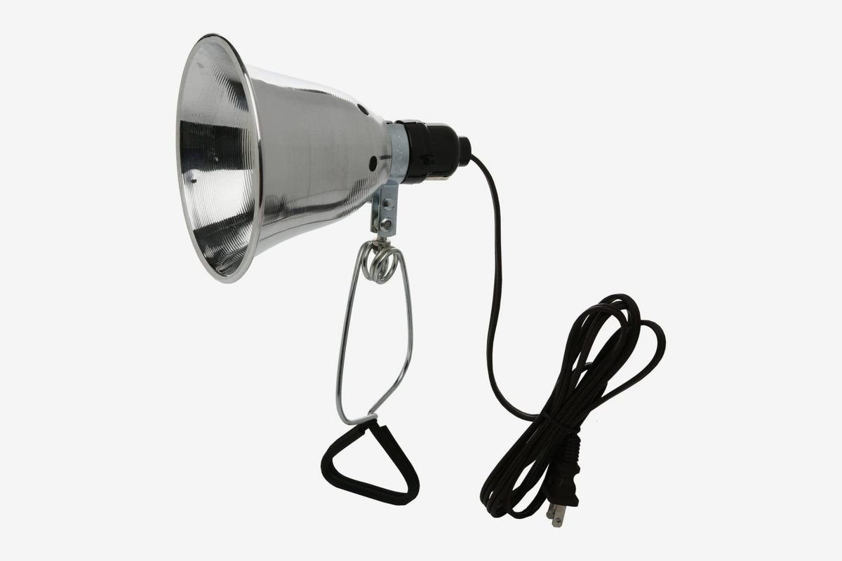 Metal lamp with black cable.