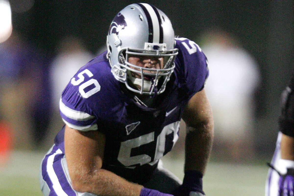 Kansas State left guard Nick Puetz returned to action for the Wildcats against West Virginia.