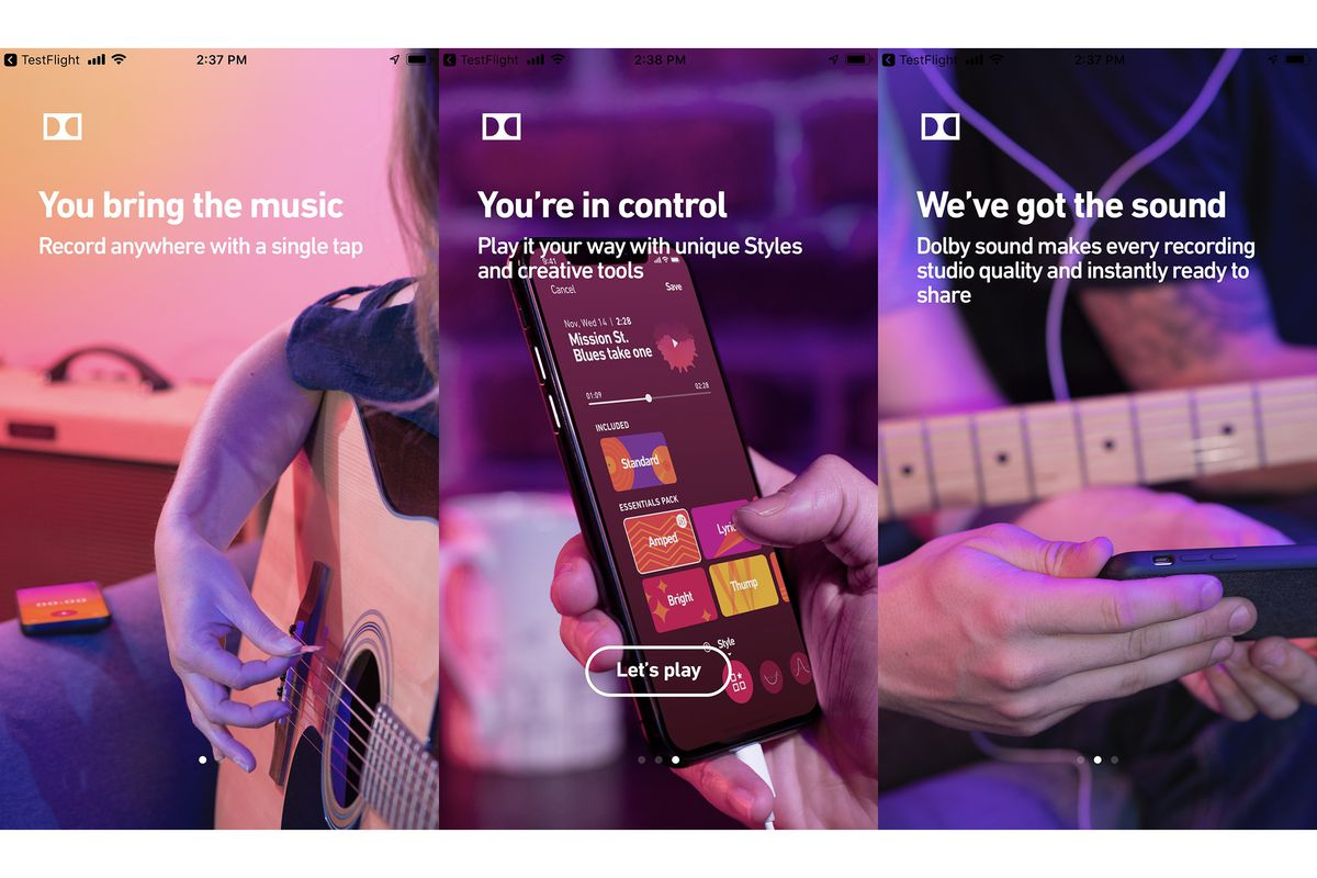 Dolby made a secret app for recording studio quality audio