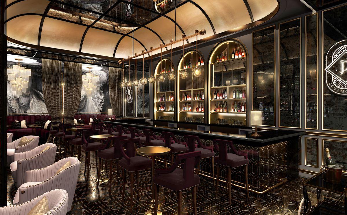 An Art Deco bar setting