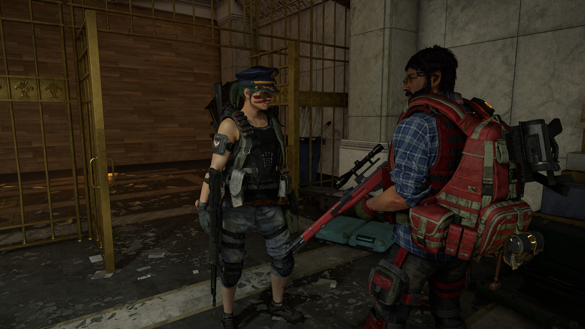 The Division 2 - two players loot a supply room