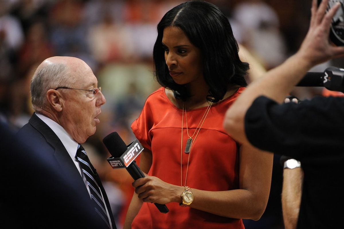 ESPN reporter and former Lady Deac LaChina Robinson
