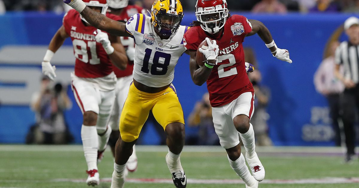 The New York Jets First Pick in the 2020 NFL Draft is K'Lavon Chaisson, Edge, LSU