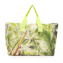 A jungle-print duffle with a zip-top has beach weekend written all over it, and the slightly rectangular shape means it's deeper (aka even bigger) than it looks.