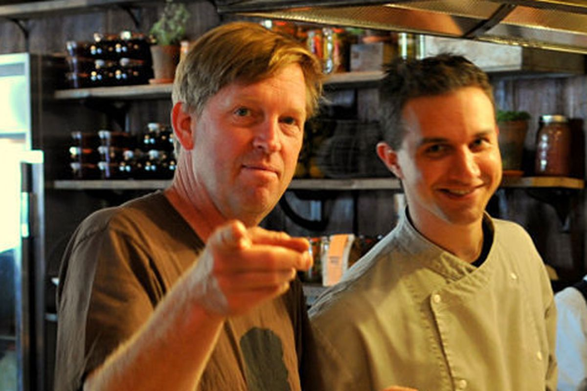 Spike Gjerde and Director of Preservation and Fermenting Isaiah Billington.