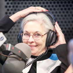 Democrat Dr. Kathie Allen puts on her headset for an on-air debate between 3rd Congressional District candidates hosted by KSL Newsradio in Salt Lake City on Tuesday, Oct. 10, 2017. Allen is vying to fill the remaining year of former GOP Rep. Jason Chaffetz's term. Chaffetz, now a Fox News contributor, resigned June 30.