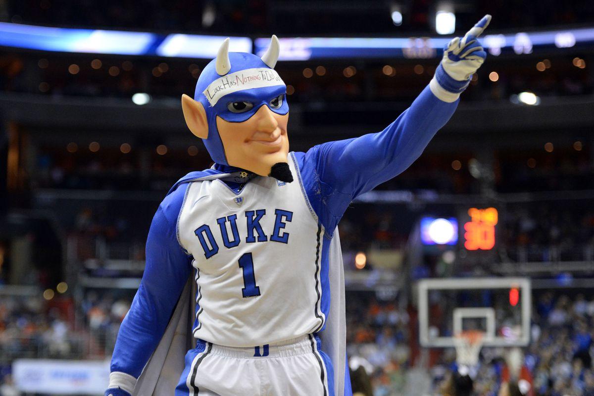 Let's be honest, Duke's mascot is a little weird.