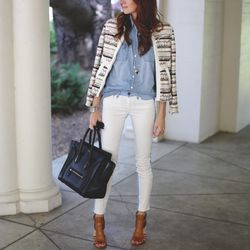"""Samantha of <a href=""""http://couldihavethat.blogspot.com/2013/03/the-perfect-springtime-blazer.html"""">Could I Have That?</a> is wearing an <a href=""""http://otteny.com/elomi-blazer.html"""">IRO</a> Elomi blazer, a <a href=""""http://www.jcrew.com/browse/single_prod"""
