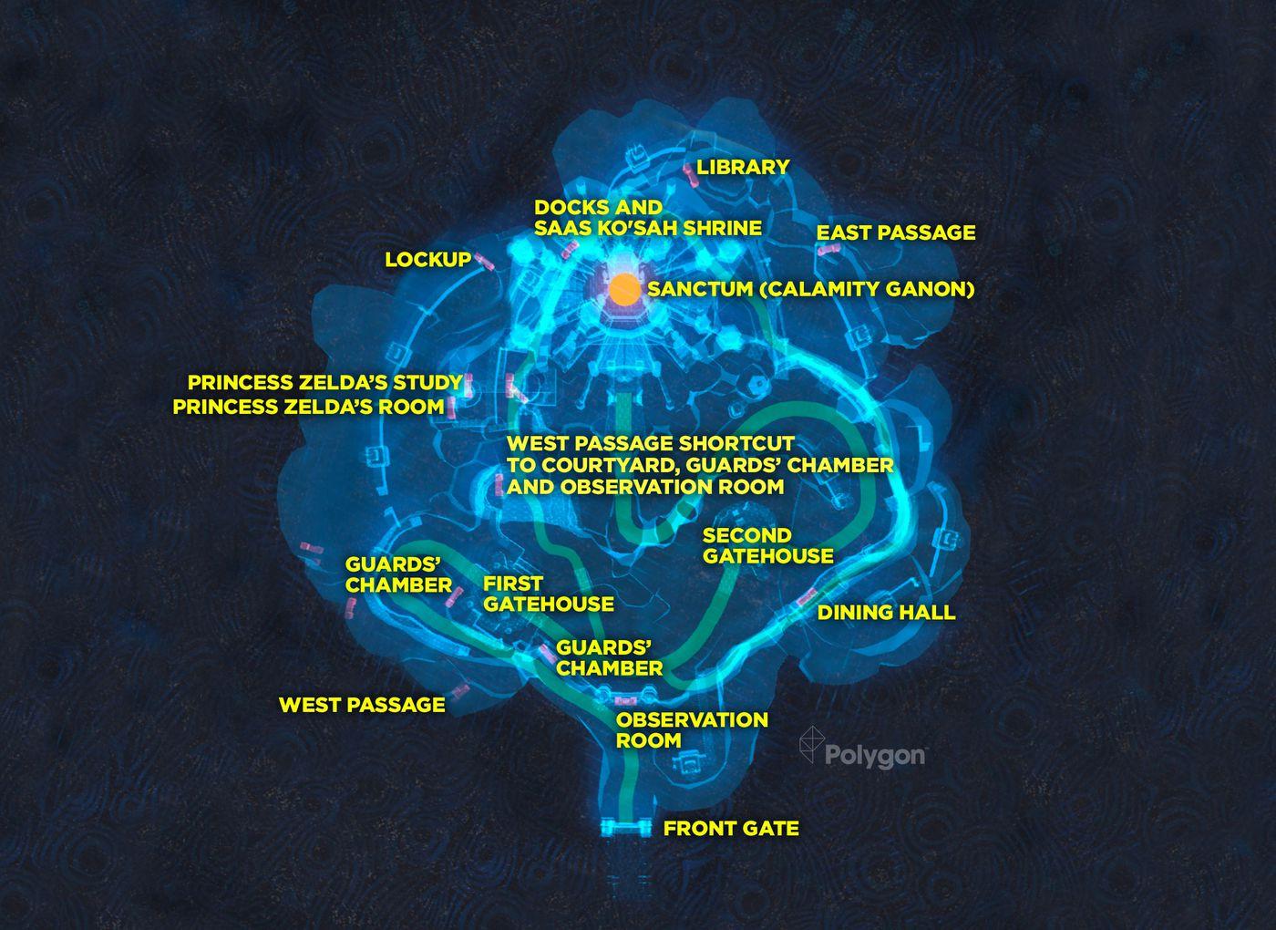 Zelda Breath Of The Wild Guide Hyrule Castle Maps Polygon