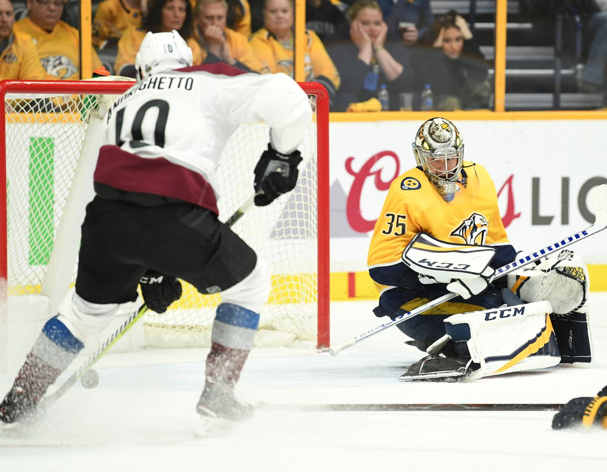 NHL: Stanley Cup Playoffs-Colorado Avalanche at Nashville Predators