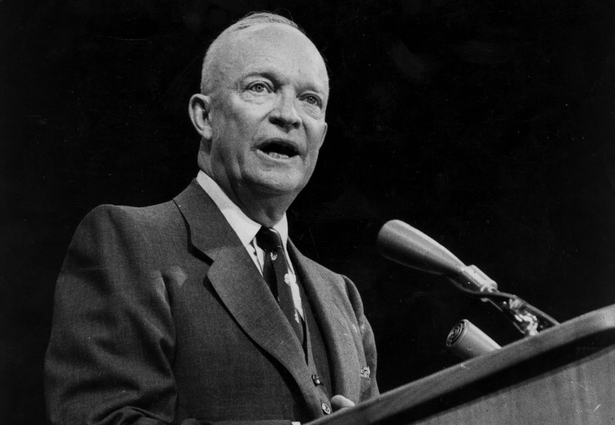 Eisenhower in 1956. (Bert Hardy/Getty Images)