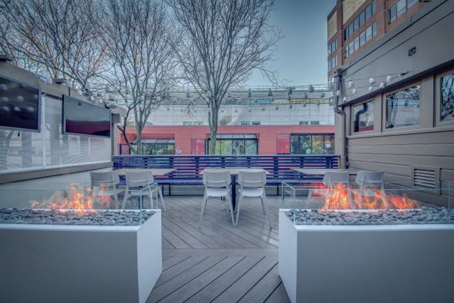 deck with firepits